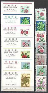 South Korea 1965 7 Sheets+7 stamps PLANTS MNH VF