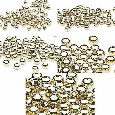 Huge Lot of 500 Shiny Gold Finished Steel Metal Round Spacer Accent Beads