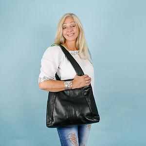Boulevard-Navona-Large-Leather-Handbag-Shoulder-bag-Black-Lime