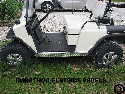 Ezgo Marathon Golf Cart  Show Quality Diamond Plate Side Panels