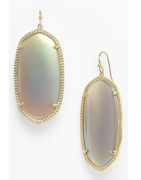 Kendra Scott Iridescent Agate gold Danielle Drop Earrings