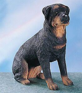 rottweiler dog collectible statue figurine figure puppy. Black Bedroom Furniture Sets. Home Design Ideas