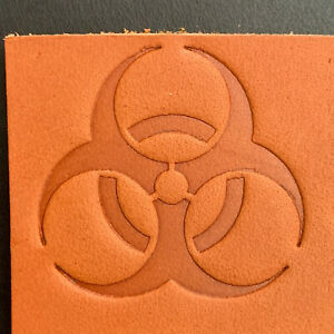 """Delrin 2/"""" x 1.5/"""" Jeep Leather Embossing Stamp Clicker Stamp"""