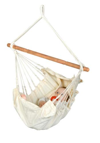 Yayita Babyhängematte Babyhängesitz Babyhängesessel aus Bio-Baumwolle La Siesta