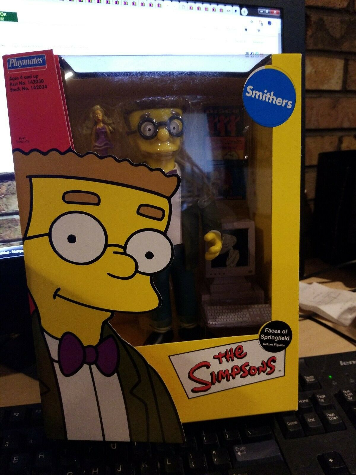 Playmates giocattoli Simpsons Smithers Faces Of Springfield  azione cifra  lo stile classico