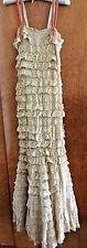 Fabulous Flapper Original Vintage Antique Lace Wedding Dress Headband 1920 Small