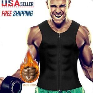 7f0eeaf8cc2 Men Slimming Neoprene Vest Tank Top Sweat Body Shaper Waist Trainer ...