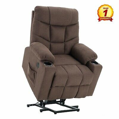 Lift Recliner Chair Electric With Remote Usb Charge Cup Holder Ebay