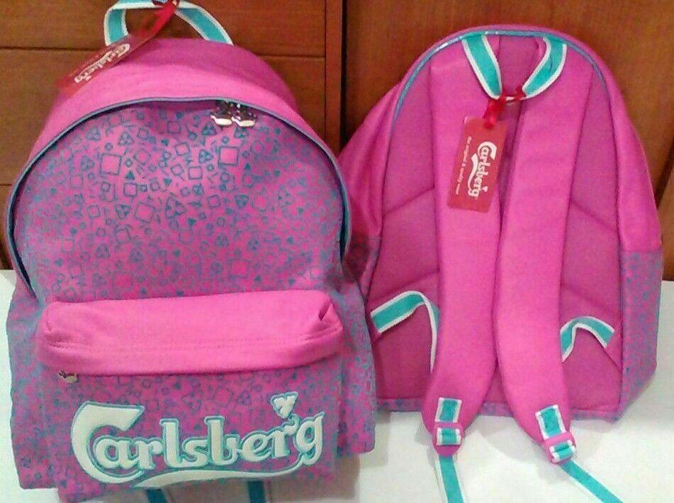 603a60cb0b Zaino Carlsberg rosa turchese ecopelle onqlgk7569-Articoli per la scuola