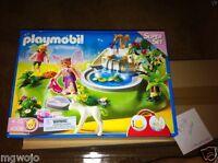 Playmobil Geobra Fairy Fountain Magic Castle Super Set 4008 In Box