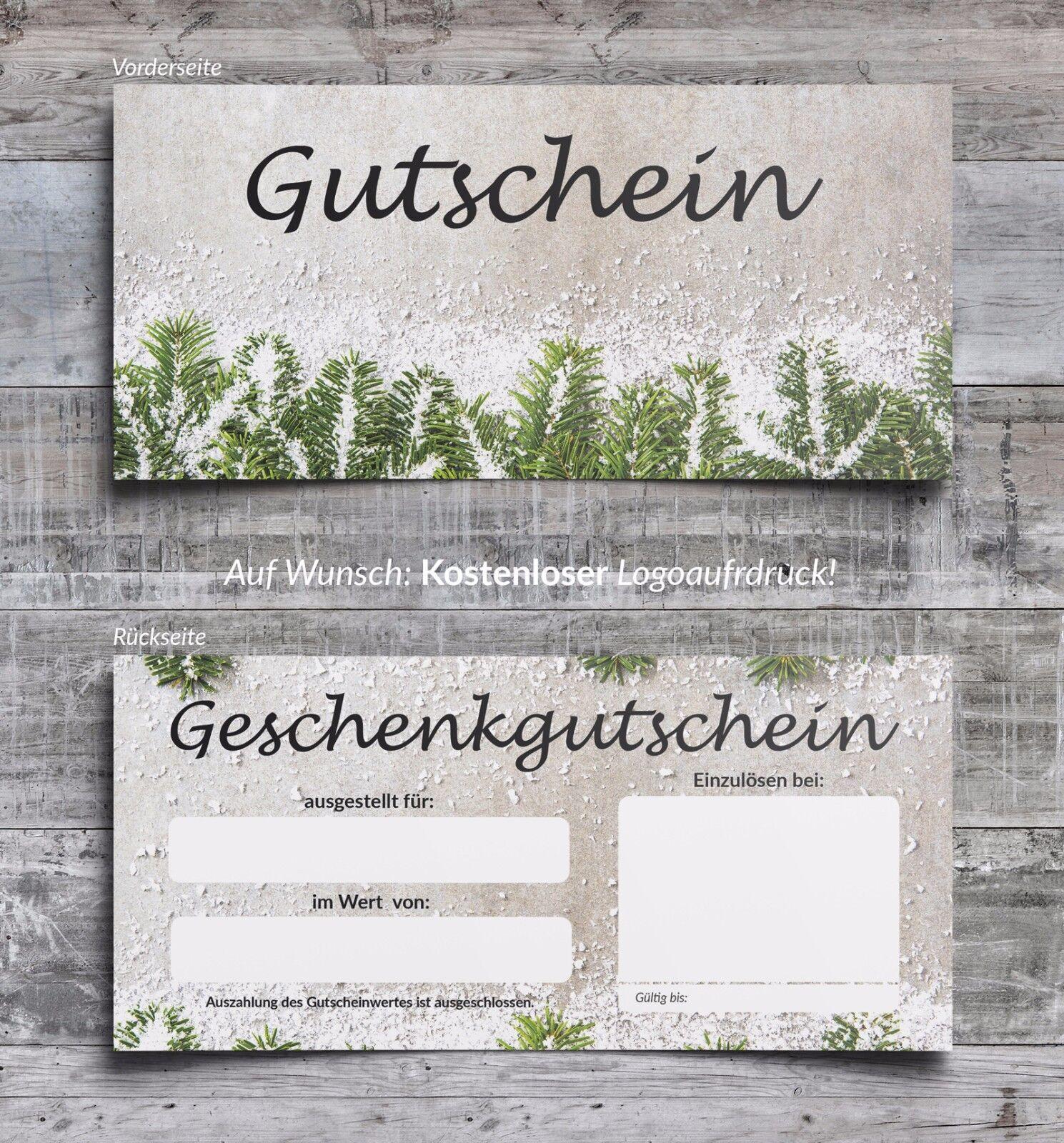 Premium Geschenkgutschein Weißnachten Geschenk Gutschein Tannen 2018