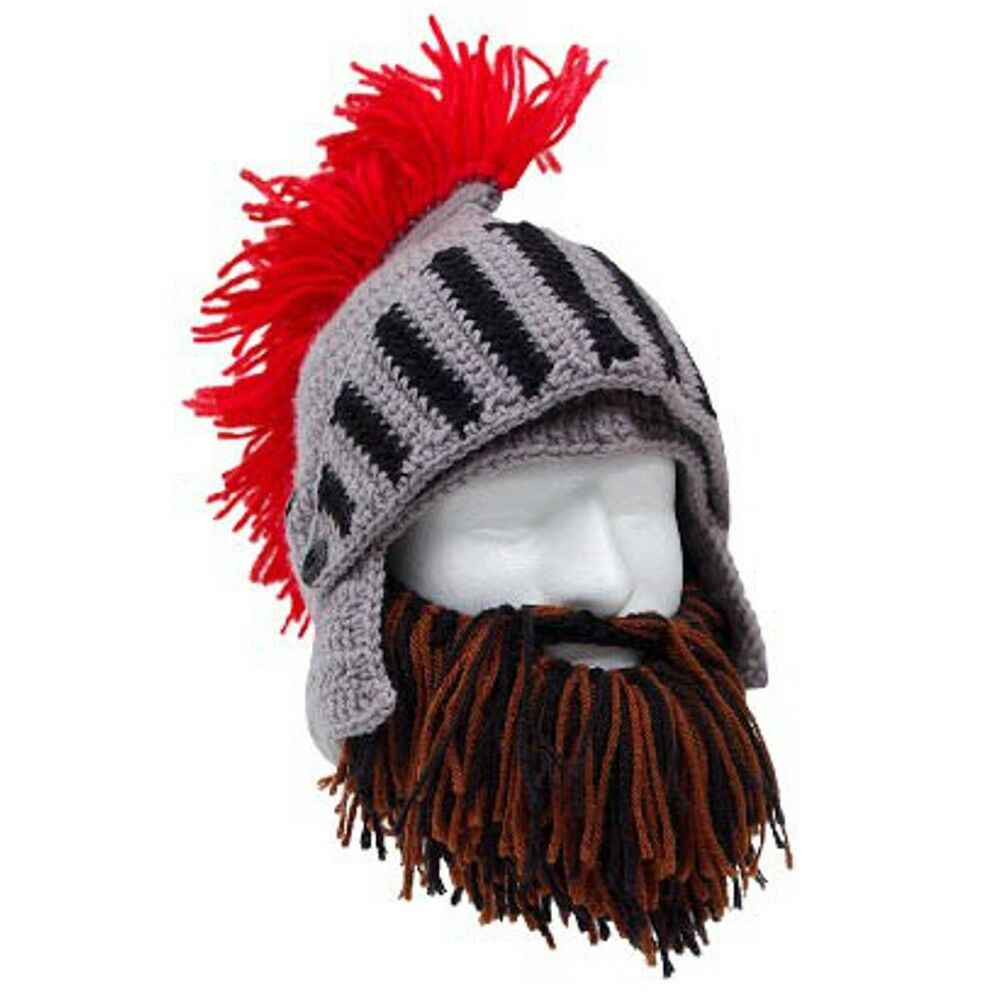 Roman Helmet Barbarian Knight MIX Thermal  Knit Beard Ski Mask With Winter Hat  enjoy 50% off
