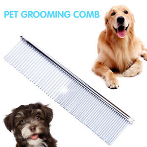 Pets-Puppy-Dog-Cat-Metal-Double-Row-Teeth-Brush-Grooming-Hair-Comb-Fur-Rake