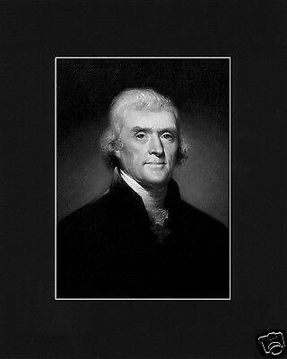 President Thomas Jefferson Black Large Matted Photo Picture # bw1