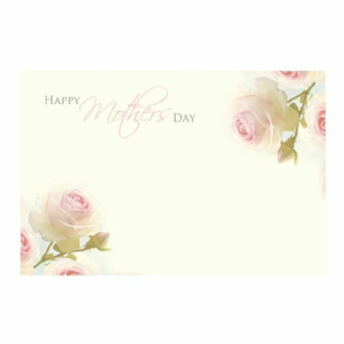 Happy Mother/'s Day Pink Rose on Cream Background 50 Florist Message Cards