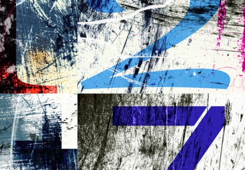 ZAHLEN ABSTRAKT Wandbilder xxl Bilder Vlies Leinwand Leinwandbilder m-C-0116-b-a