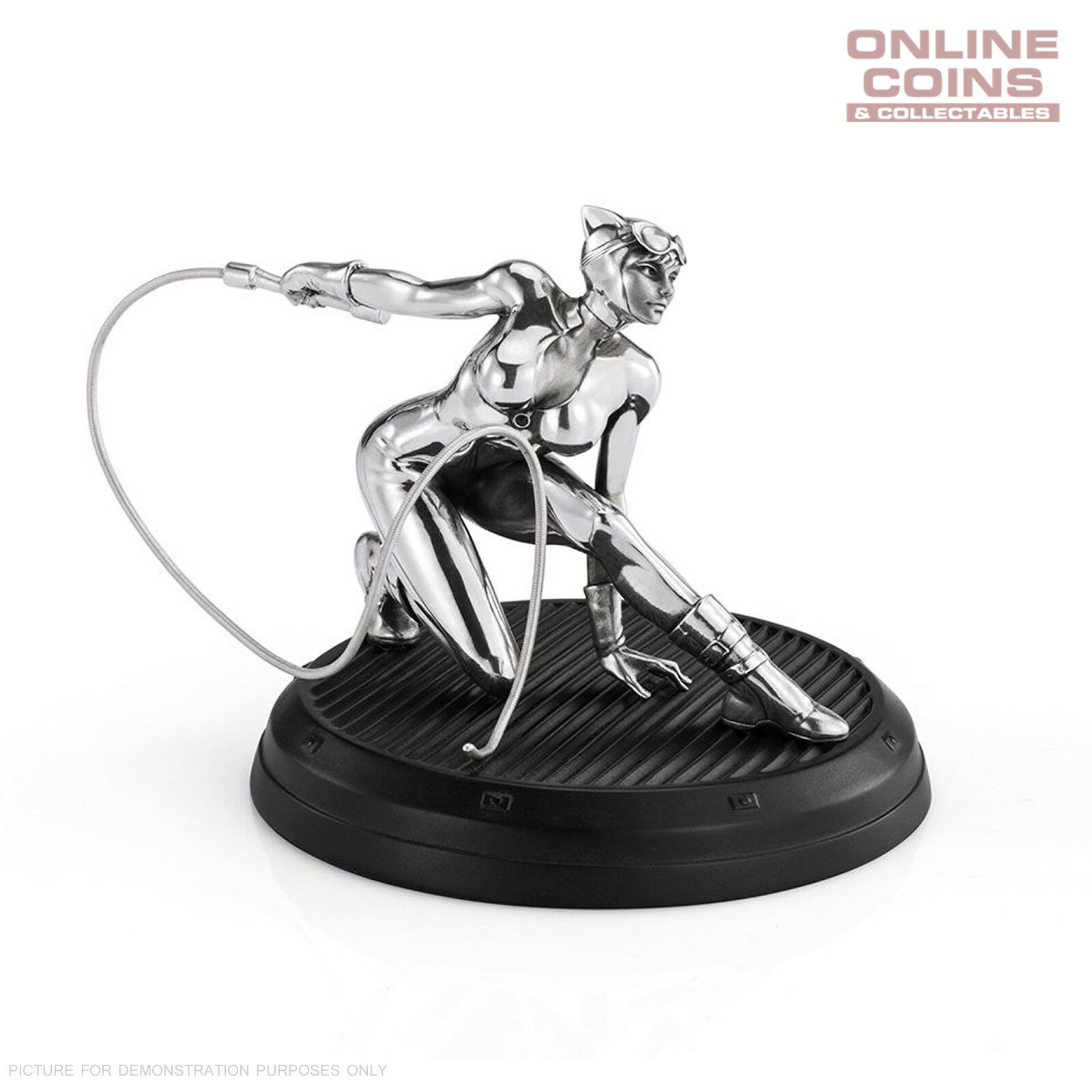 DC Comics Pewter Catwoman 4  Figurine - Officially Licensed by Royal Selangor
