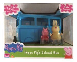 Peppa-Pig-de-Mini-Autobus-Escolar-con-Sonido-amp-2-Figuras-Playset-Juguete-Edad-3