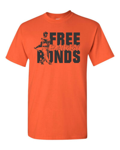 Free Barry Bonds Hall of Fame Men/'s Tee Shirt 1751