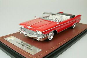 CHRYSLER IMPERIAL CROWN CONVERTIBLE CABRIOLET 1960 ROT 1/43 GLM 131001 1-199 NEU