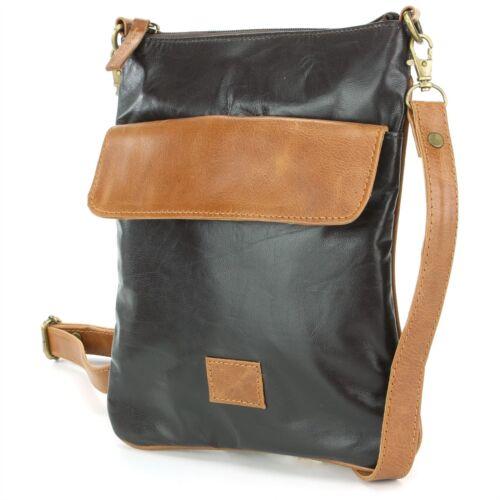 Bag Shoulder Handbag Cross Body Crossbody Leather Satchel BLACK Messenger