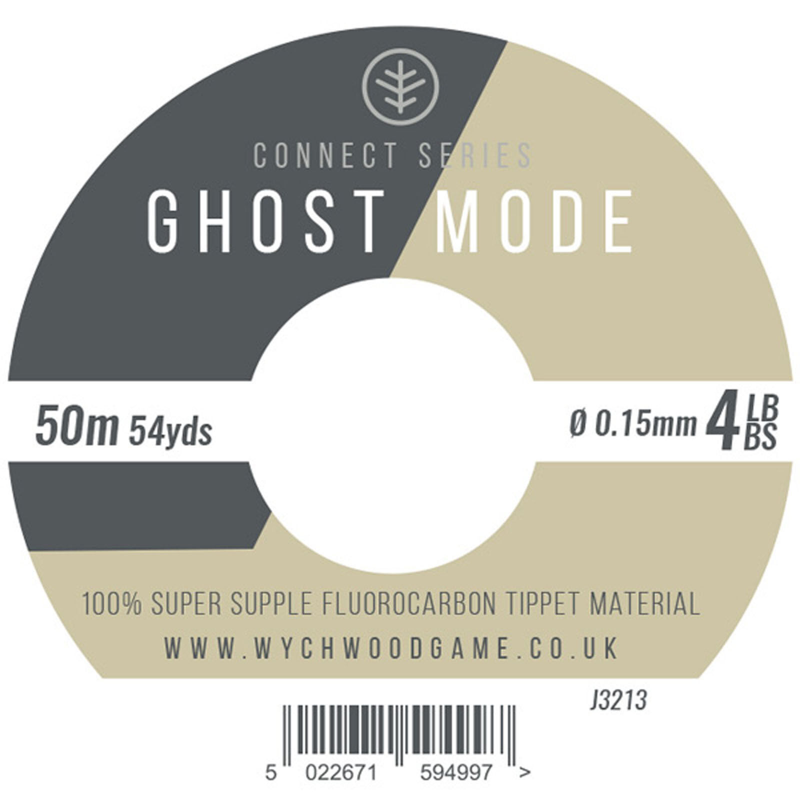 Wychwood Connect Series Ghost Mode FluGoldcarbon 50m Tippet - 3 - 10lb - 10pk