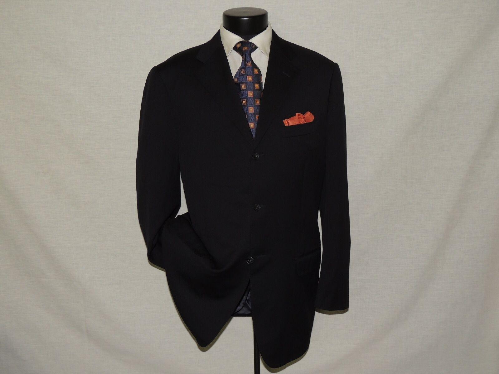 D-762 Corneliani 100% wool super 100's Herren Blau suit coat 42 L pants 35X31