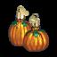 Set of 2 Miniature Pumpkins Blown Glass Ornament by Old World Christmas