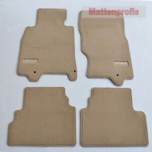 Premium Top Velour Edition beige Fußmatten für Infiniti G CC ab Bj.09/2010 -