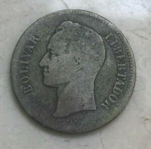 1903 Venezuela 2 Bolivares - Silver