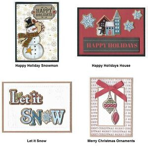 4 CHRISTMAS Greeting Cards Lot #5 - Handmade and Unique