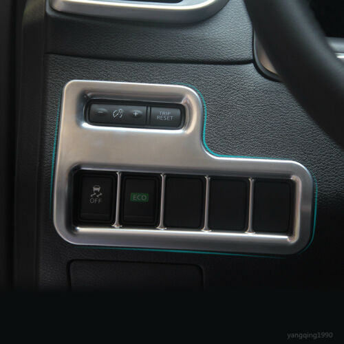 Chrome Head Light /& ESP switch button cover trim For Nissan Murano 2015 2016