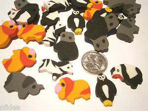 24-x-Asst-Zoo-Animals-Mini-Erasers-Eraser-Rubbers-Great-for-Party-Loot-Bags