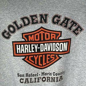 Harley-Davidson Womens Zip Sweatshirt Gray Golden Gate California USA XL