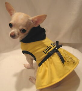 Dog-Clothes-Dog-Hoodie-Little-Honey-Dog-Dress-FREE-SHIP-Sizes-XXS-XS-M-L