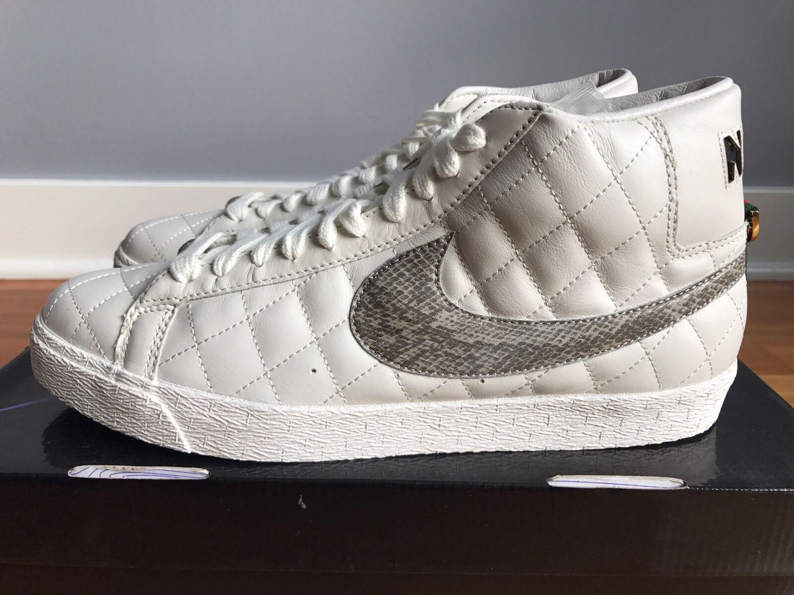 Nike sb supremo blazer vela bianca / brown dimensioni nuove