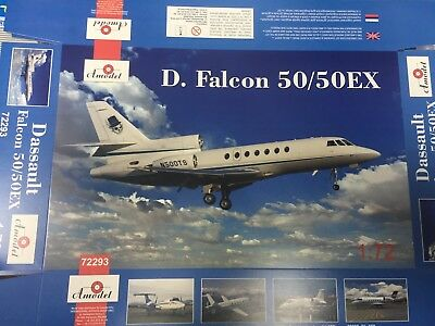 Amodel 72293 Aircraft Dassault Falcon 50//50EX Plastic Model Kit 1//72