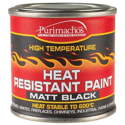 Everbuild Heat Resistant Paint 125ml Black High Temperature Fire Ovens Exhausts