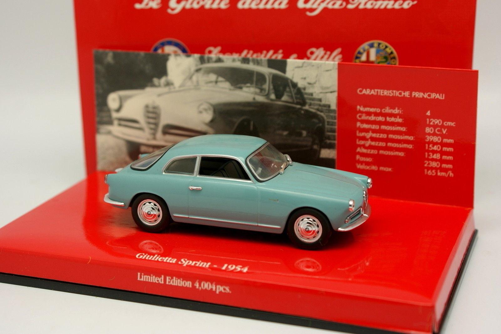 Minichamps 1/43 - Alfa Romeo Giulietta Sprint Sprint Sprint 1954 Blu a78642