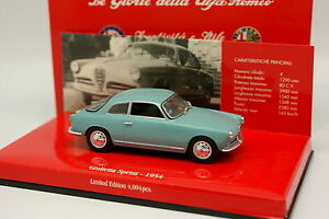 MINICHAMPS-1-43-Alfa-Romeo-Giulietta-Sprint-1954-Blue