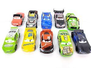 Lote-de-10-Disney-Pixar-Mattel-Cars-Diecast-Metal-Vehicles-Racer-Lighting-Mcqueen