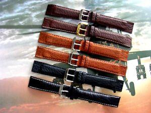 Buffalo-calf-Open-End-wire-lug-Leather-watch-band-strap-IW-SUISSE-16-18-20-22mm