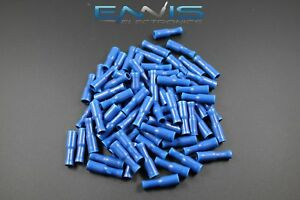 14-16 GAUGE VINYL SPADE # 6 CONNECTOR 25 PK BLUE CRIMP TERMINAL AWG CAR SUV