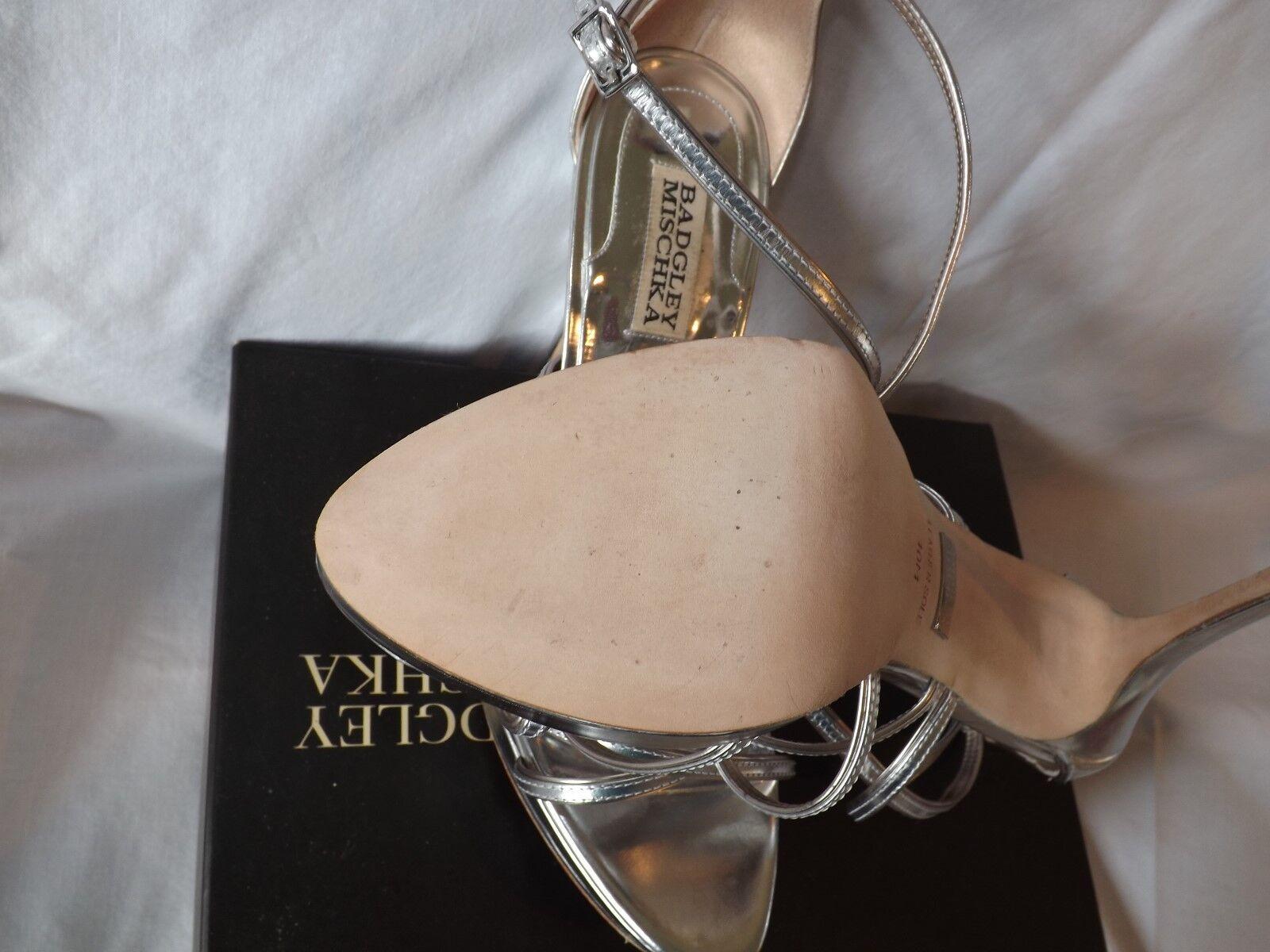 BADGLEY MISCHKA WOMEN'S SILVER Schuhe ZULA WEDDING STRAPPY HEELS Schuhe SILVER 215.00 NIB 10 1e501b