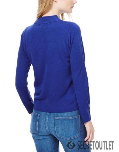 NUOVO M/&S Collezione Royal Blue Imbuto Maglione Collo Uk 22