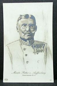 K-u-K-Patriotica-Ak-Austria-General-Moritz-Knight-v-Auffenberg-Lot-H-8994