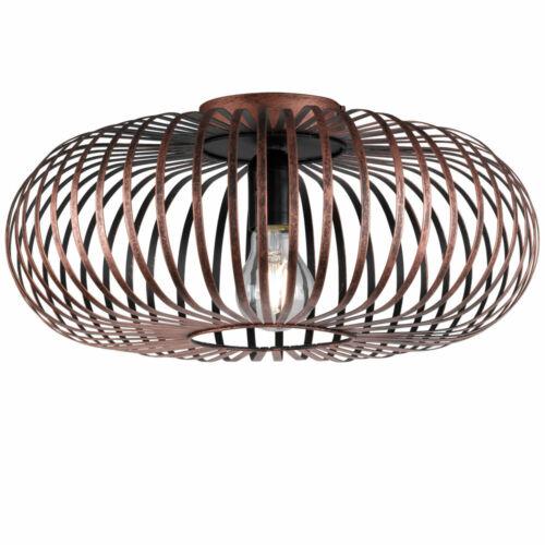 Vintage Deckenleuchte Wohnzimmer Dielenstrahler Käfiglampe Kupfer 1-flammig IP20