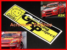 """2x 8.5"""" 21.6cm GENKI decal sticker for S15 350Z altezza autobacs gp d1 S14 86 gt"""