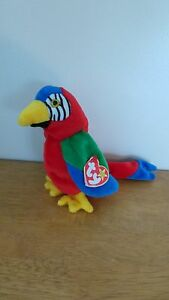 467b9070e58 Image is loading TY-Beanie-Baby-Jabber-the-Parrot-Tag-Error
