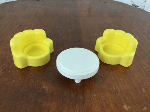 Fisher Price Little People Table /& Chairs Yellow White